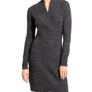 Athleta Black Merl Innsbrook Sweater Dress